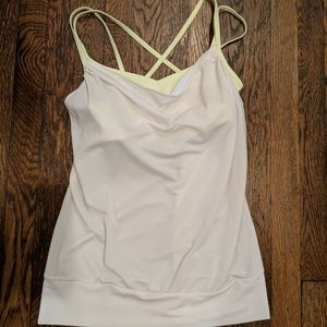 Lucy Feel the Beat Tank Yoga with Built-In Bra - M